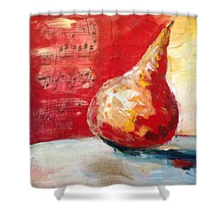 Dancing Pear Shower Curtain