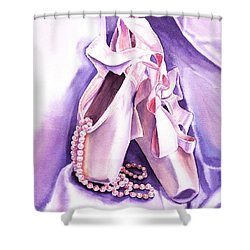 Dancing Pearls Ballet Slippers  Shower Curtain