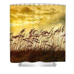 Dancing Sea Oats Shower Curtain