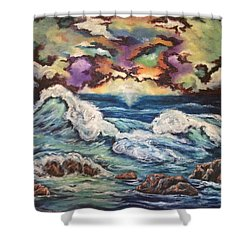 Dancing Skies 3 Shower Curtain by Cheryl Pettigrew