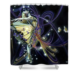 Dancing Stars Shower Curtain
