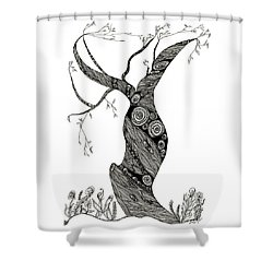 Dancing Tree Shower Curtain