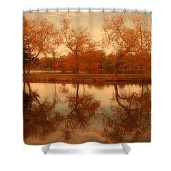 Dancing Trees - Lake Carasaljo Shower Curtain