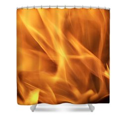 Shower Curtain featuring the photograph Dancing With Fire by Betty Northcutt