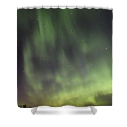 Shower Curtain featuring the photograph Dancing With The Dipper by Larry Ricker
