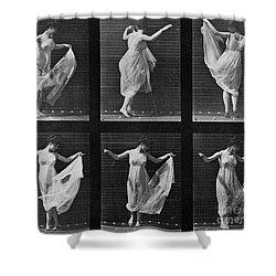 Dancing Woman Shower Curtain by Eadweard Muybridge