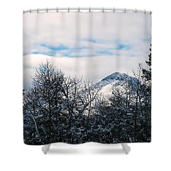 Dancing Woman Mountain In The Winter Shower Curtain