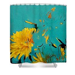 Dandelion Summer Shower Curtain