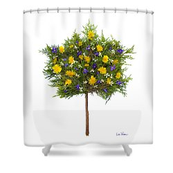 Shower Curtain featuring the photograph Dandelion Violet Tree by Lise Winne