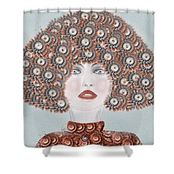 Shower Curtain featuring the painting Dandy Moo by Bri B
