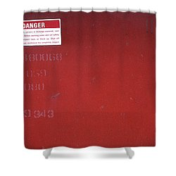 Shower Curtain featuring the photograph Danger by Kenneth Campbell