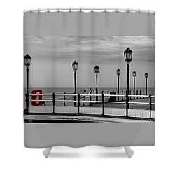 Danger - Lamp Posts Shower Curtain by Hazy Apple