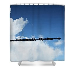 Shower Curtain featuring the photograph Dangerous Reflection Saltwater Crocodile 2 by Gary Crockett