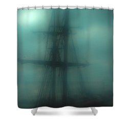 Dangerous Waters Shower Curtain by Andrew Paranavitana