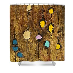 Dangling Blossoms Shower Curtain by Tara Thelen