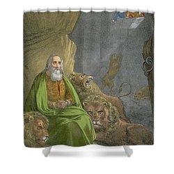 Daniel In The Lions' Den Shower Curtain