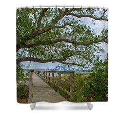 Daniel Island Time Shower Curtain