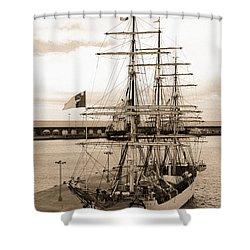 Danish Training Ship Shower Curtain by Gaspar Avila