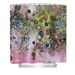 Shower Curtain featuring the painting Dante's Divine Valentine by Laurie Maves ART