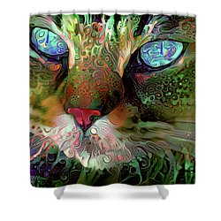 Darby The Long Haired Cat Shower Curtain