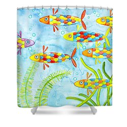 Dare To Be Different Shower Curtain by Stephanie Troxell
