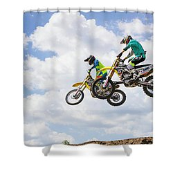 Daring Duo Shower Curtain by Fran Gallogly