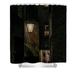 Dark Alley London Shower Curtain