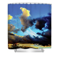 Dark And Dusty Skies  Shower Curtain