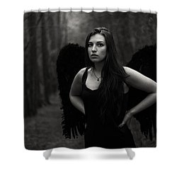 Shower Curtain featuring the photograph Dark Angel by Brian Hughes