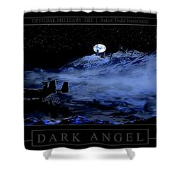 Dark Angel Shower Curtain by Todd Krasovetz