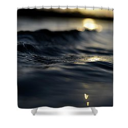 Shower Curtain featuring the photograph Dark Atlantic Traces by Laura Fasulo