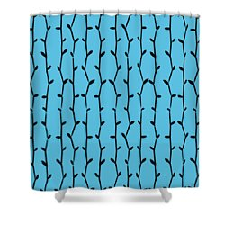 Shower Curtain featuring the digital art Dark Bamboo - Choose Your Color by Mark E Tisdale