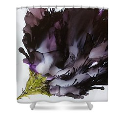 Shower Curtain featuring the painting Dark Beauty by Pat Purdy