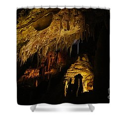 Dark Cave Shower Curtain by Oscar Moreno