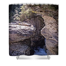 Dark Chasm Shower Curtain