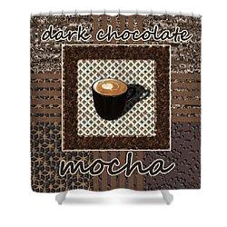 Shower Curtain featuring the photograph Dark Chocolate Mocha - Coffee Art by Anastasiya Malakhova