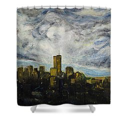 Dark Clouds Approaching 2 Shower Curtain by Ron Richard Baviello