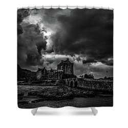 Shower Curtain featuring the photograph Dark Clouds Bw #h2 by Leif Sohlman