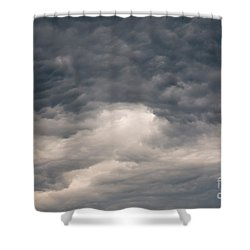 Dark Clouds On The Sky Shower Curtain by Michal Boubin