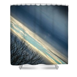 Dark Clouds Parting Shower Curtain