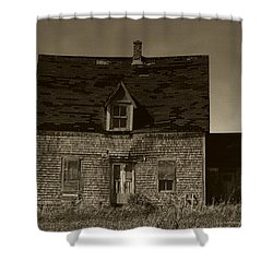 Dark Day On Lonely Street Shower Curtain by RC DeWinter