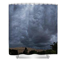 Dark Electric Shower Curtain
