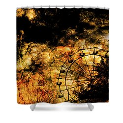 Dark Ferris Wheel Shower Curtain