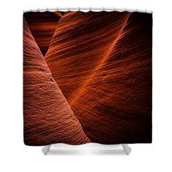 Dark Flow Shower Curtain