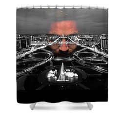 Dark Forces Controlling The City Shower Curtain by ISAW Gallery