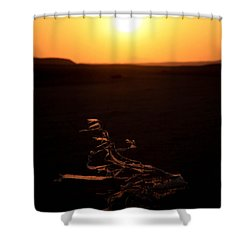 Shower Curtain featuring the photograph dark in the U K by Jez C Self