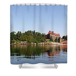 Dark Island Shower Curtain