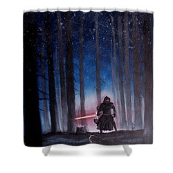Dark Jedi Shower Curtain