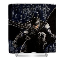 Shower Curtain featuring the painting Dark Knight by Sylvia Thornton