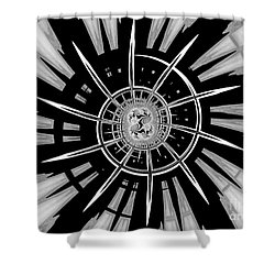 Dark Liberty Shower Curtain